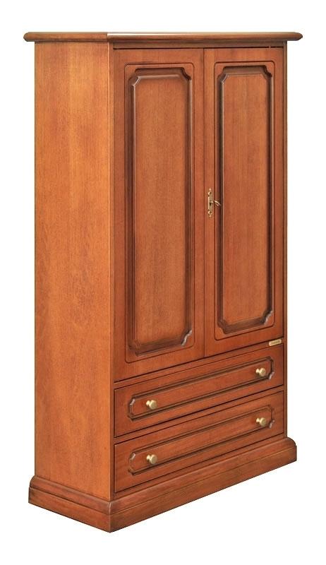 Schrank 2 Türen 2 Schubladen