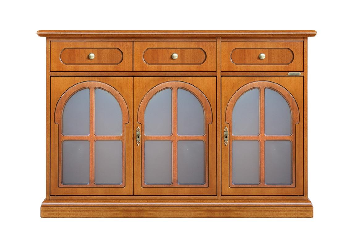 Buffet vitrine classique 3 portes