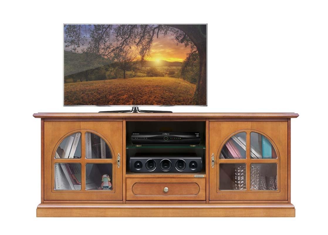 TV-Lowboard Glastüren und Schublade