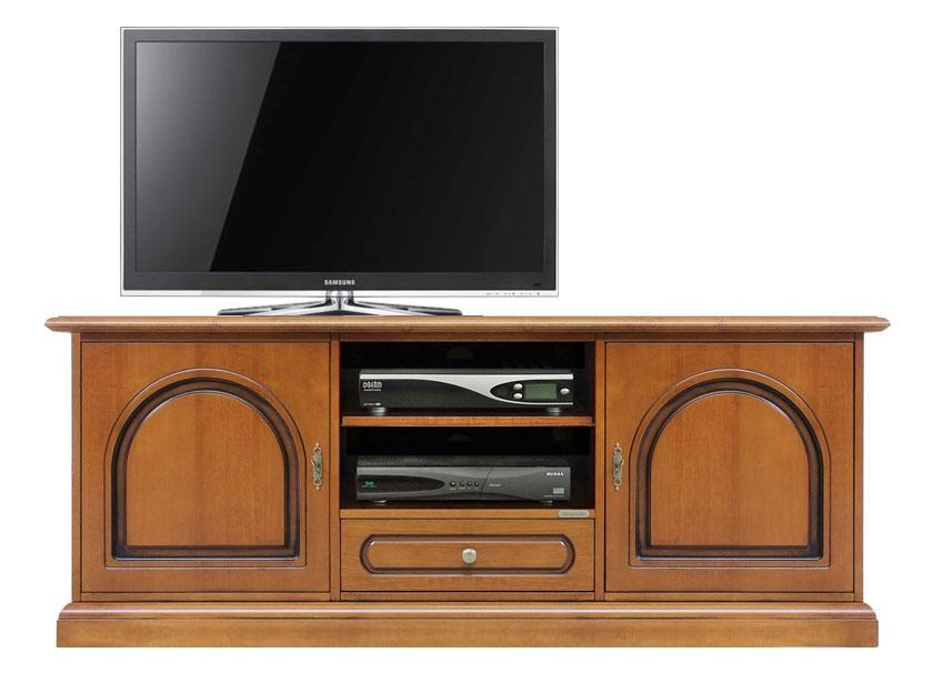Meuble tv bas classique 2 portes