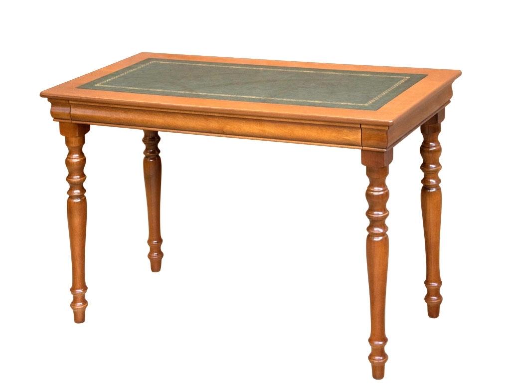 Schreibtisch Louis Philippe Lederplatte klassisch