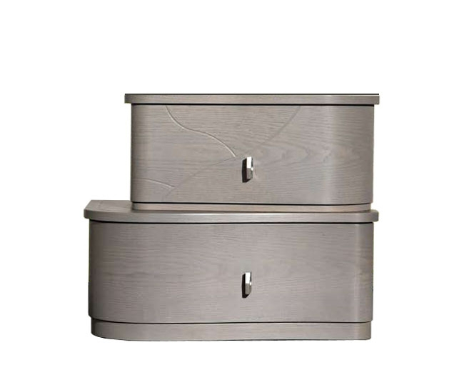 Table de chevet moderne 2 tiroirs - Collection Gioia