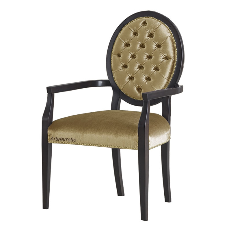 Armlehnstuhl mit Knöpfen gepolstert Deluxe