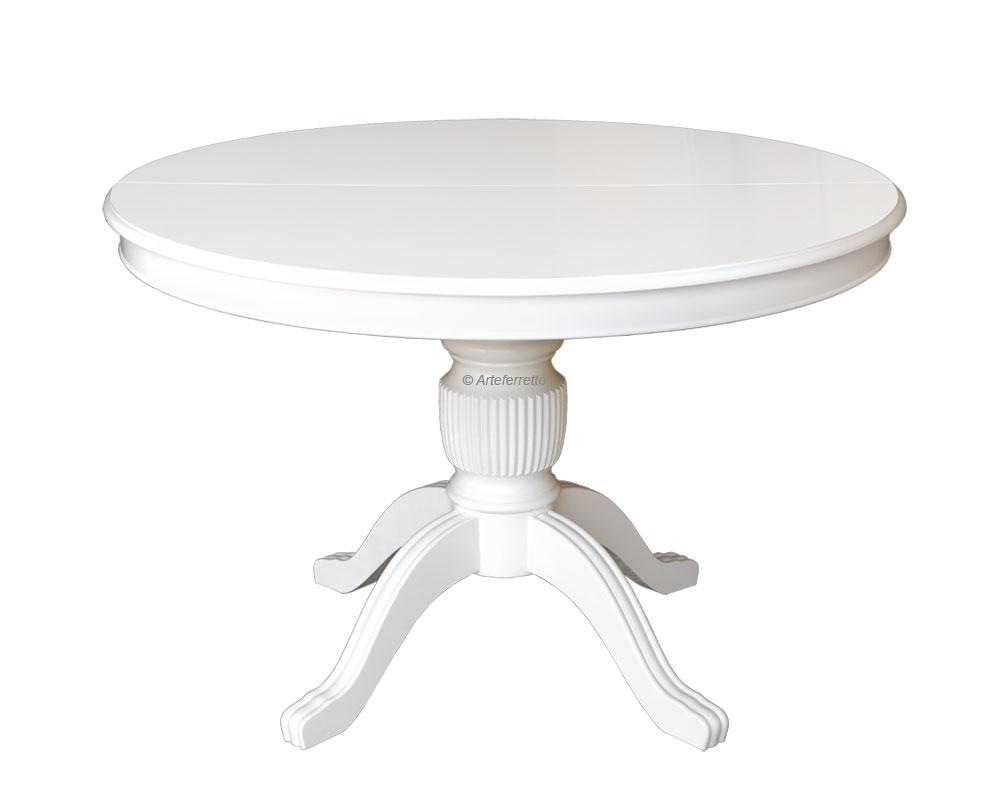 Table à manger ronde Stub 120 cm laquée prolongeable