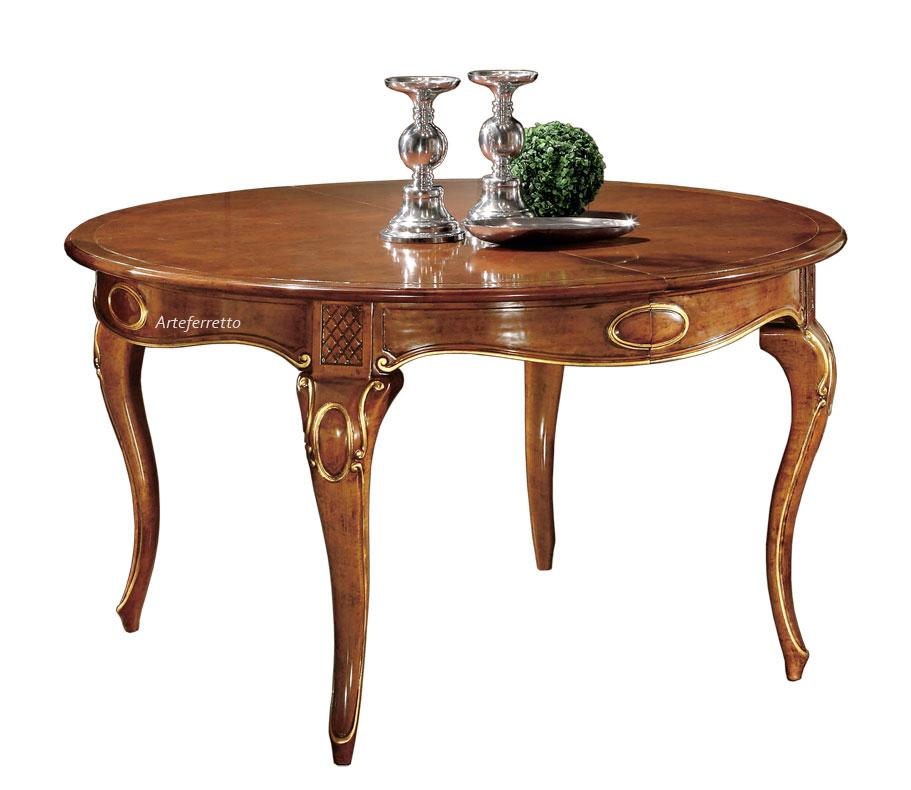 Table ronde 140 cm avec rallonge
