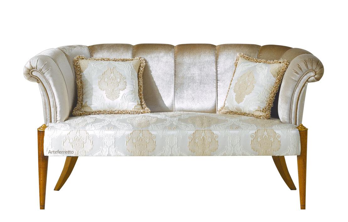 Canapé bois et tissu Icône