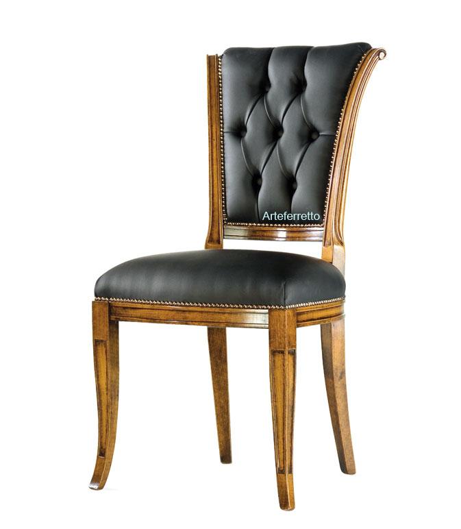 Chaise salle à manger bois et tissu Eclipse