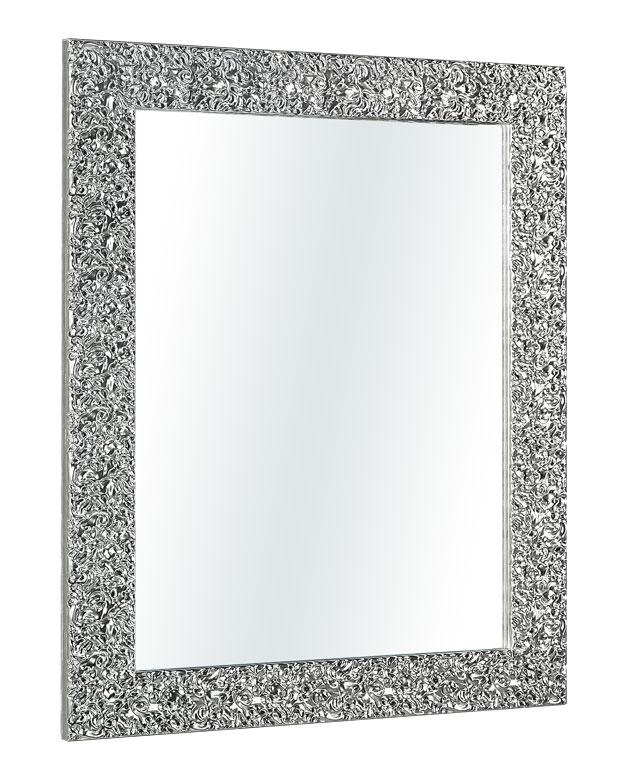 Spiegel mit Holzrahmen in Silber glänzend Dream