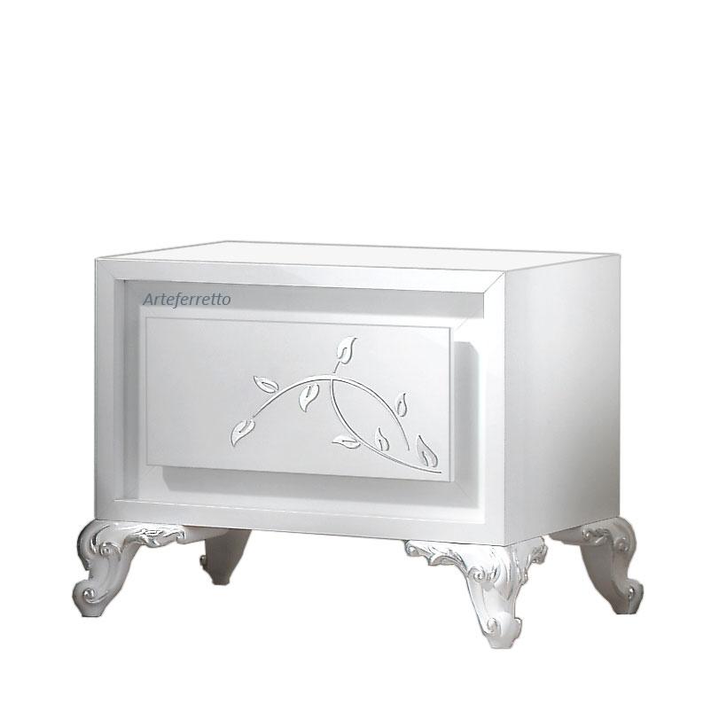 Rechteckiger Nachttisch 1 Schublade Silverate