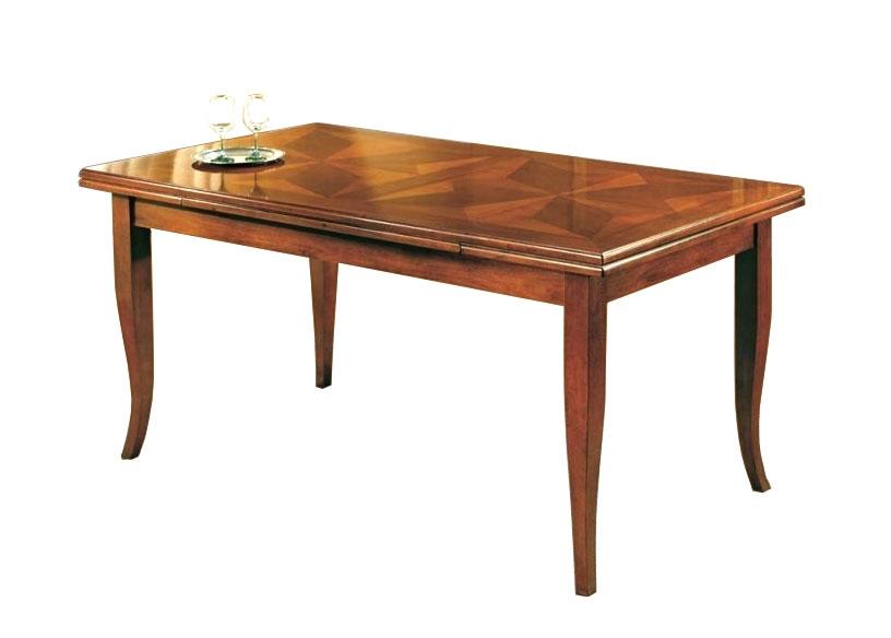 Tisch mit Intarsien rechteckig 170-250 cm