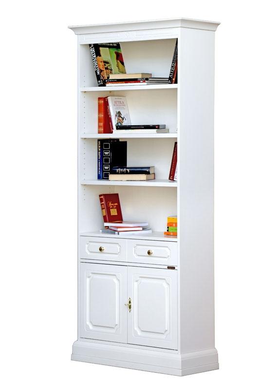 Bibliothèque haute portes et tiroir