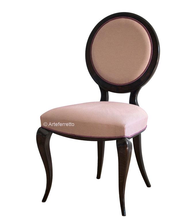 Stuhl runde Rücklehne Wooden Lens