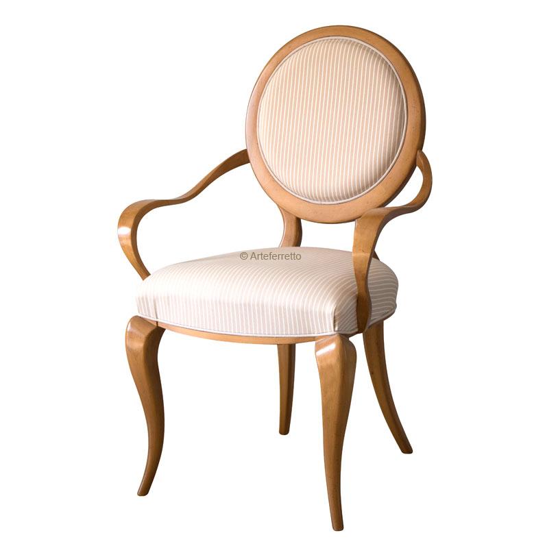 Stuhl runde Lehne Impossible Wood