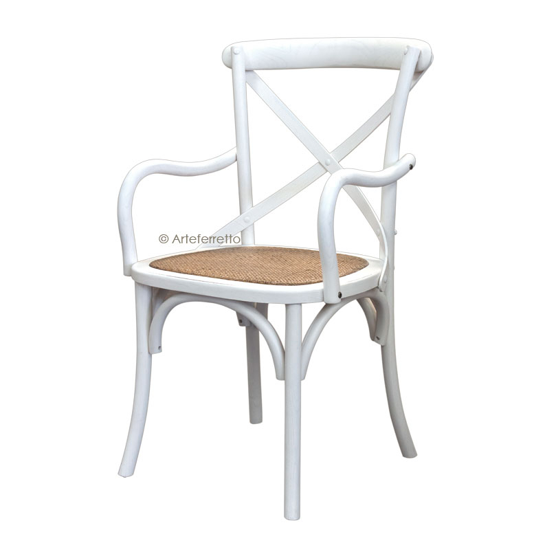 Chaise bout de table Shabby Chic