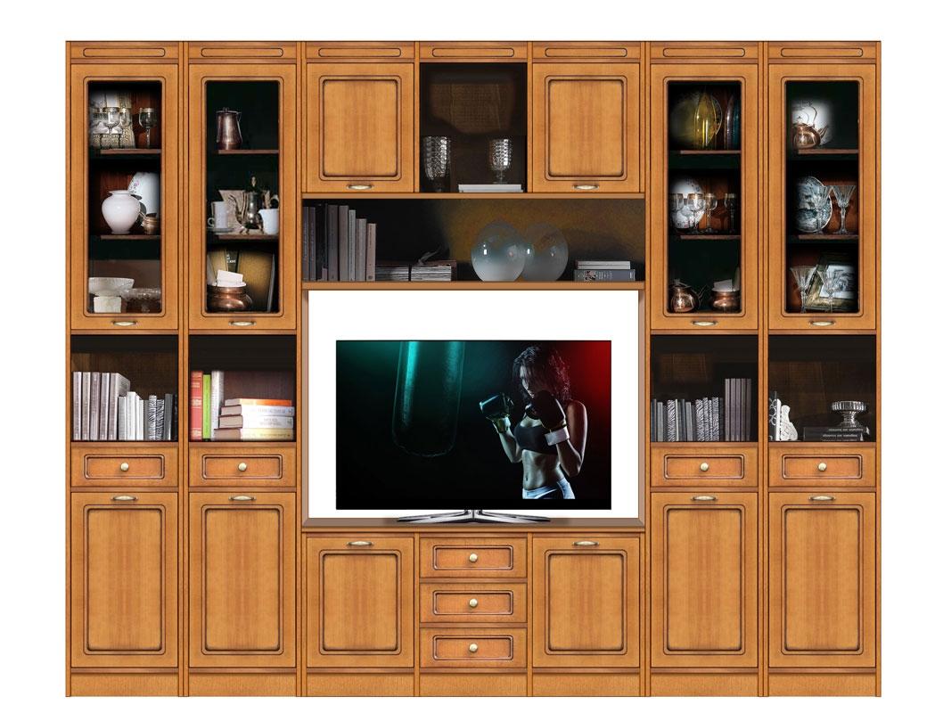 Anbauwand modular TV-Möbel aus Holz