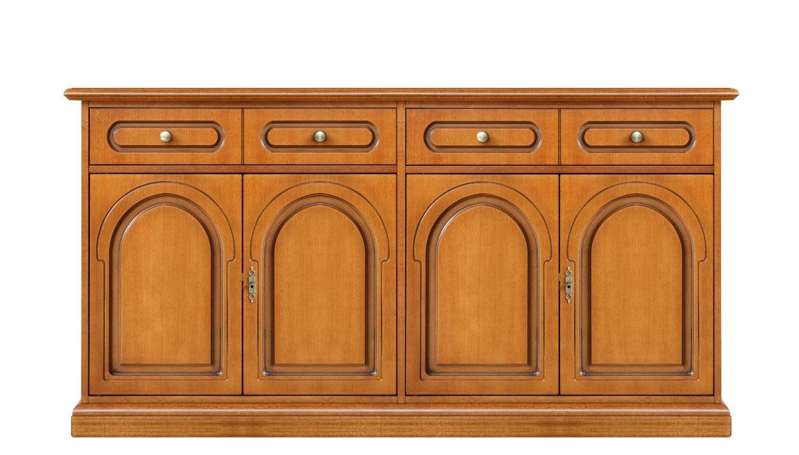 Anrichte Holz Küche 2 Schubladen 4 Türen