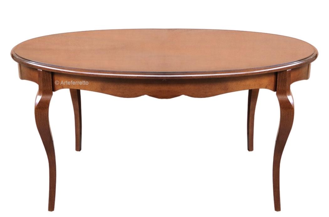 Tisch oval klassisch modern aus Holz
