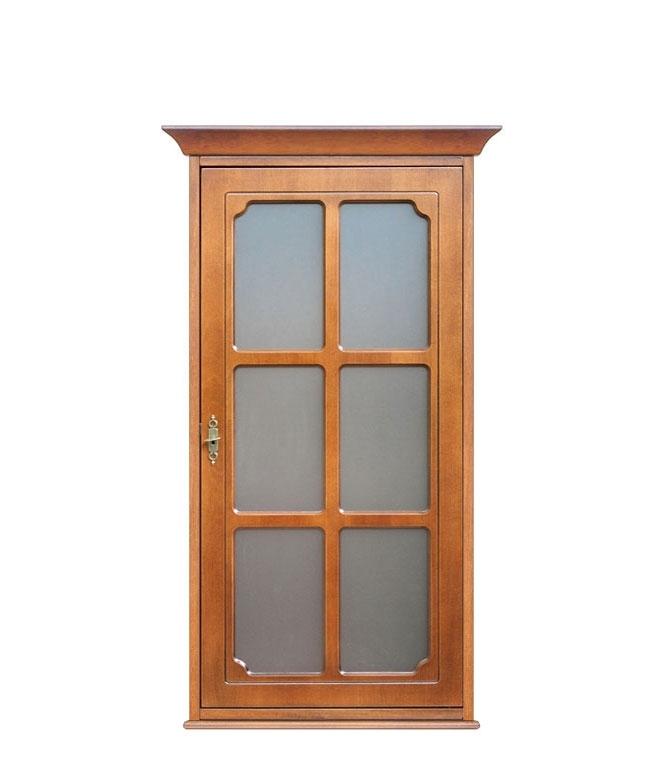 Vitrine murale bois et verre 1 porte