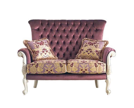 Gepolstertes Sofa im Stil Süßes Leben