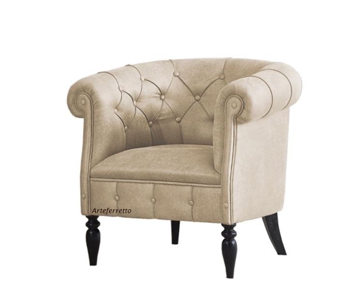 Kleiner gepolsterter Sessel Chester