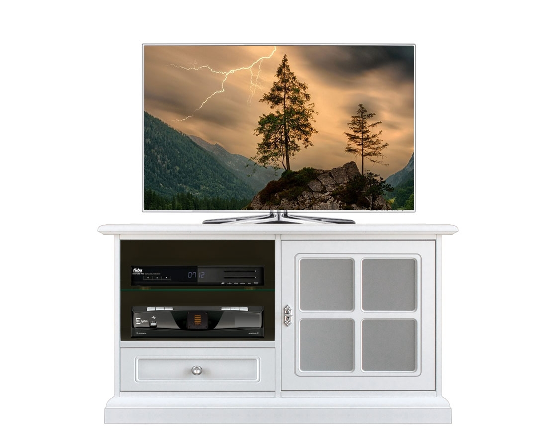 TV-Möbel total white Snowy