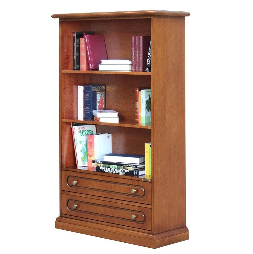 Breites Bücherregal mit 2 Schubladen Aria