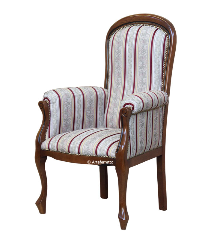 Fauteuil style Voltaire assise haute