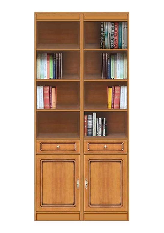 Buchregal moderner Stil aus Holz, H 220 cm