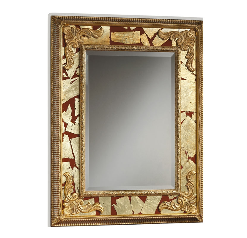 Spiegel Gold und Rot Mediceam