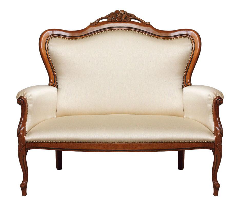 Klassisches Sofa 2 Sitze Fleur plus