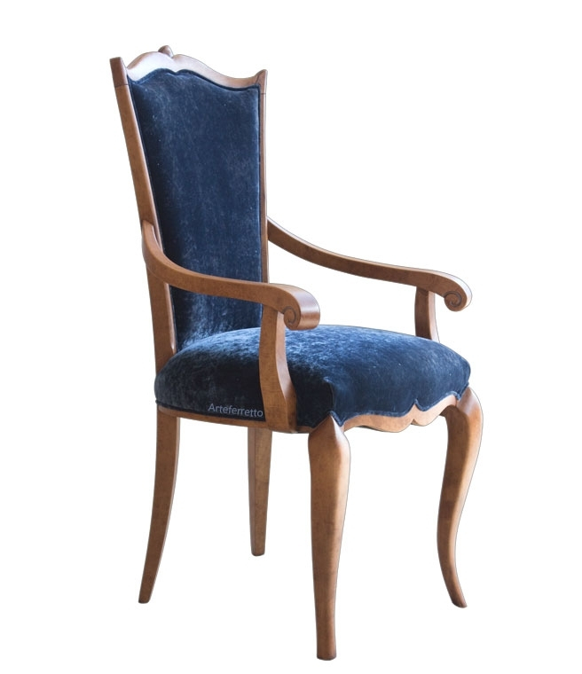 Chaise galbée avec accoudoirs
