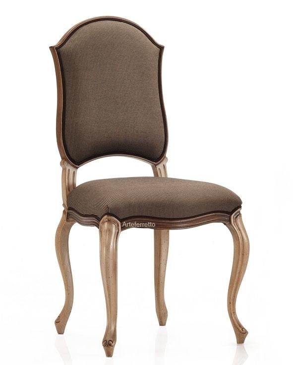 Chaise rembourrée style classique