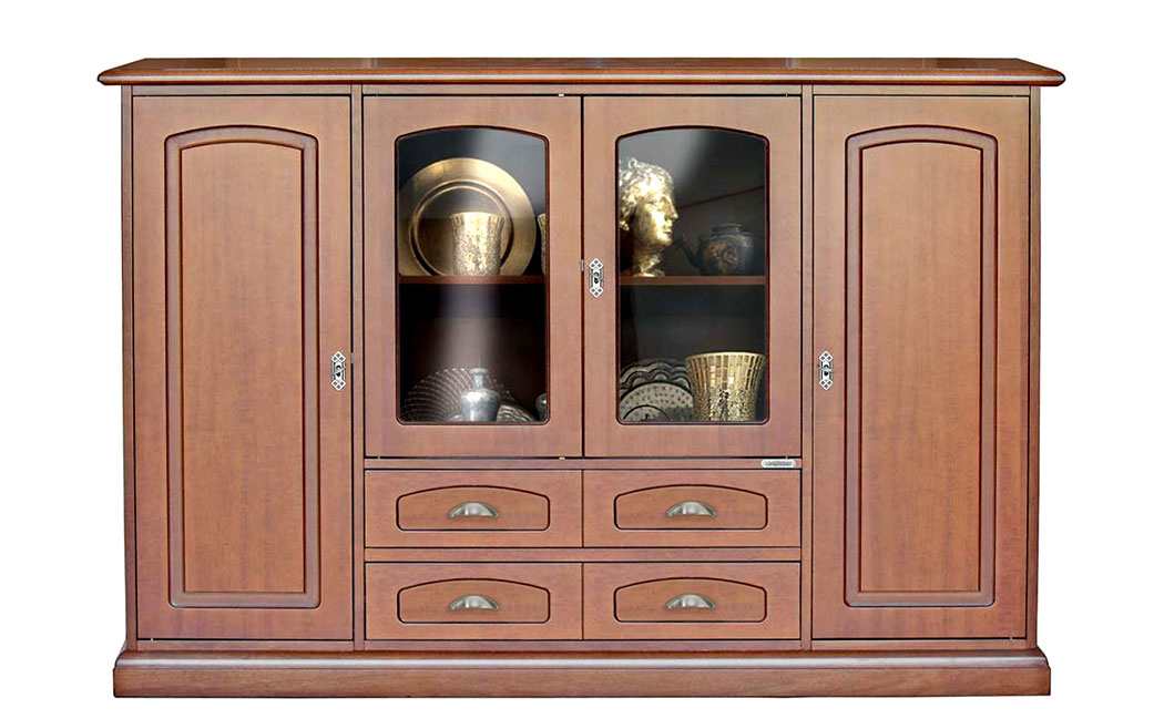 Highboard aus Holz Lesmo