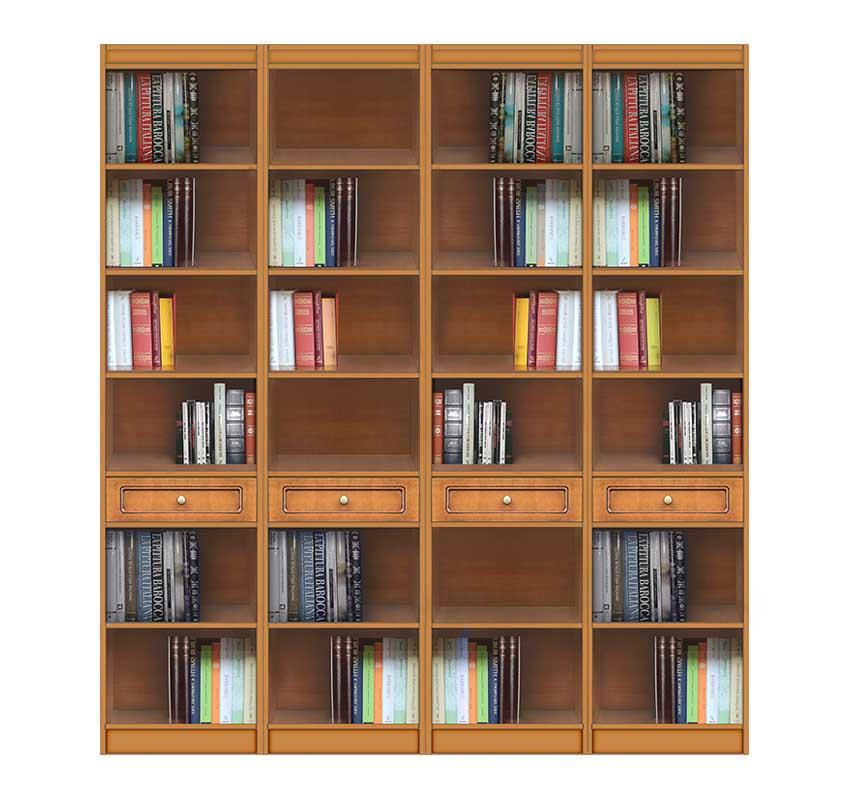 Bücherregal 2 m mit Einlegeböden