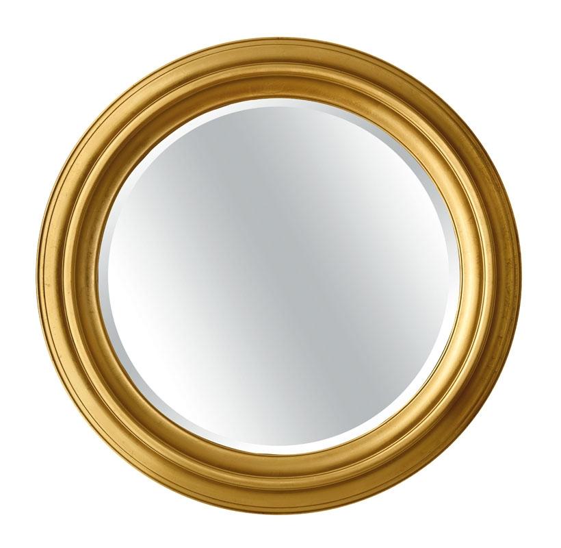 Runder goldener Spiegel Ipnos