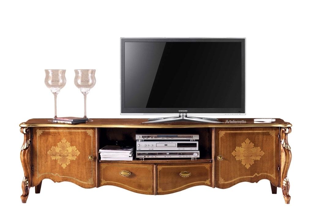 Meuble TV marqueterie