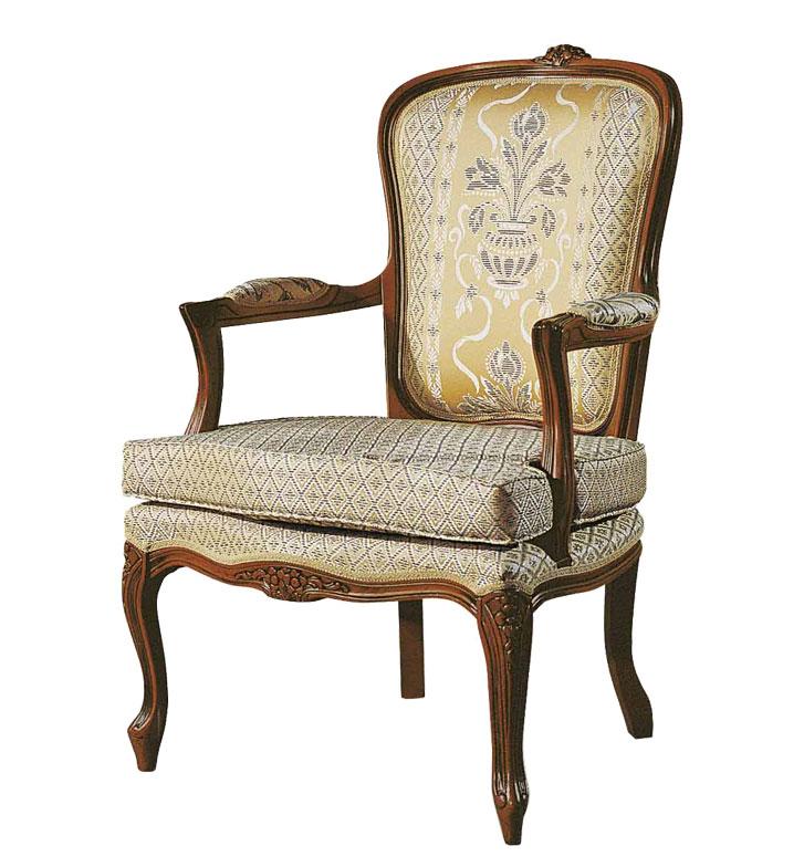 Fauteuil style Louis XV avec coussin
