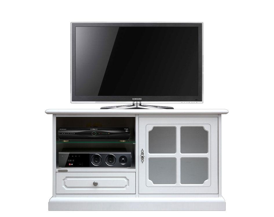 Meuble TV petite taille avec porte vitrée