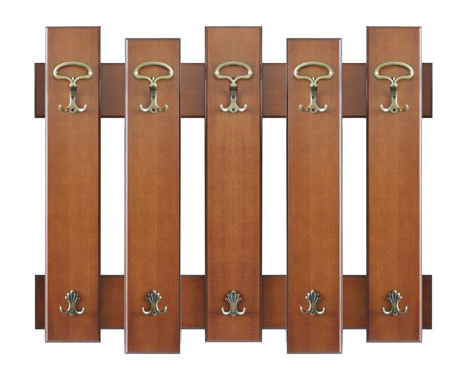 Portemanteau patère en bois 5 éléments