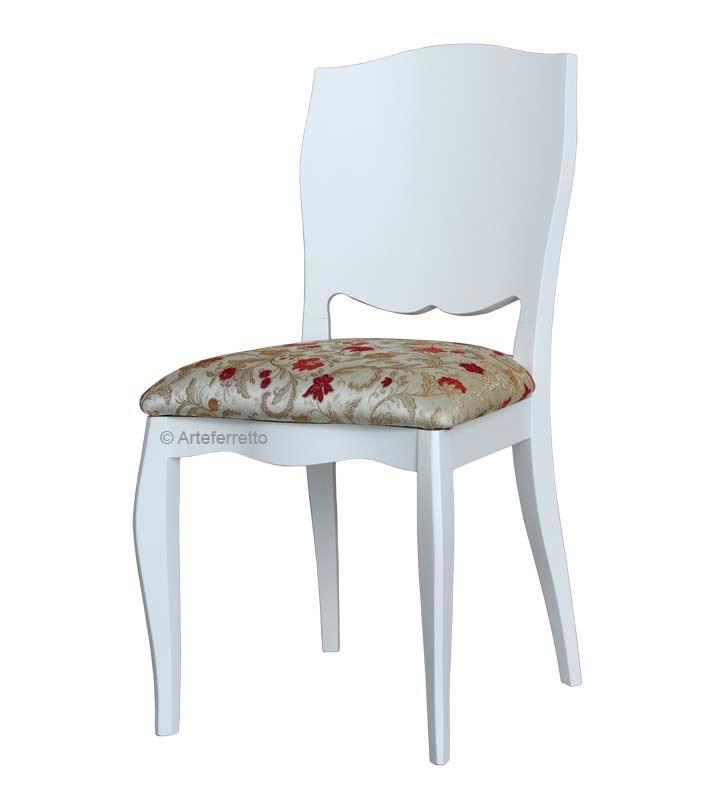 Holzstuhl modern mit gepolstertem Sitz
