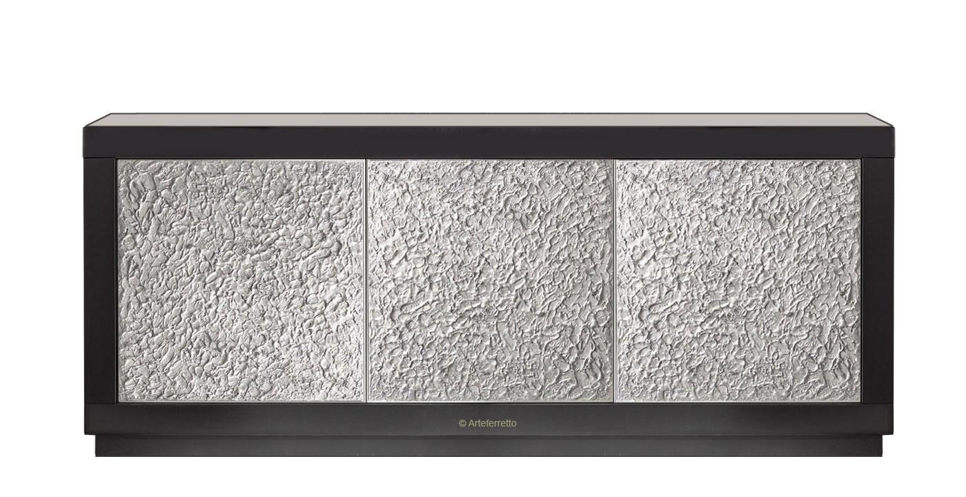 Design Sideboard mit Türen Silver