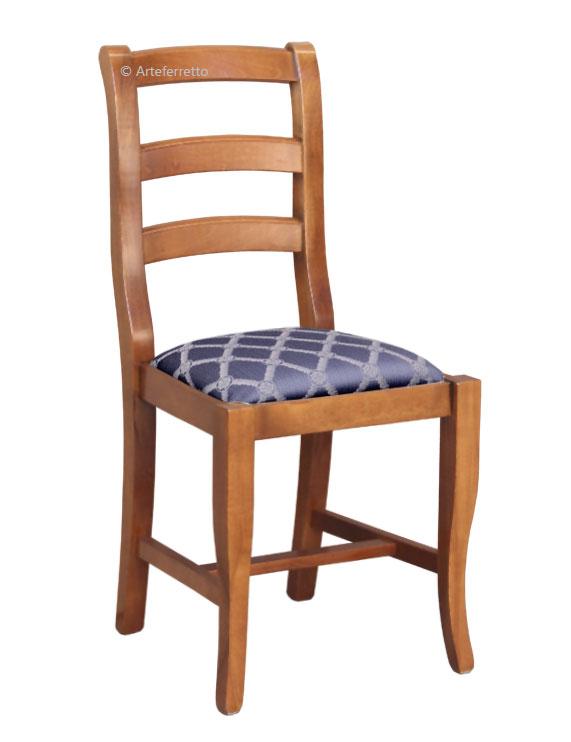Esszimmerstuhl klassisch Holz Sitz gepolstert