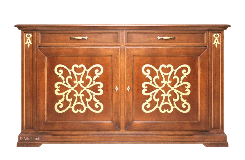 Buffet en bois avec tiroirs Classic & Gold