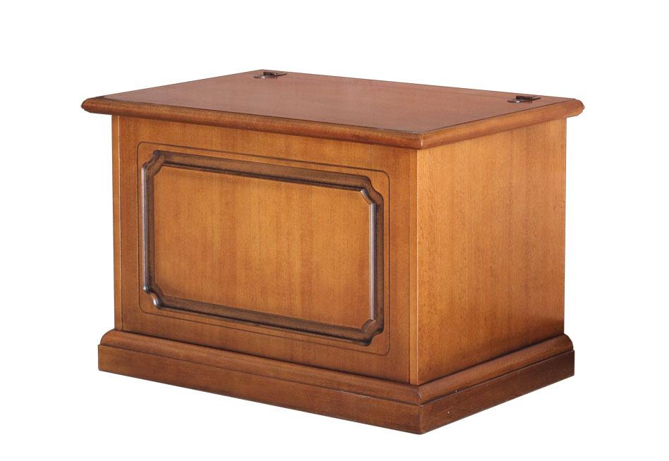 Truhe Holz 75 cm mit Klappe