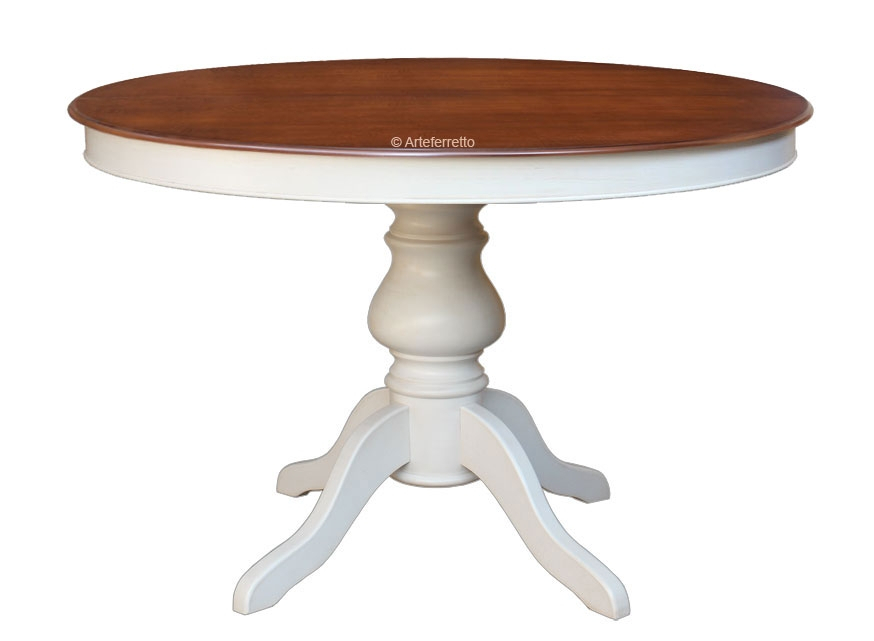 table bicolore avec allonge diametre 110 cm 10