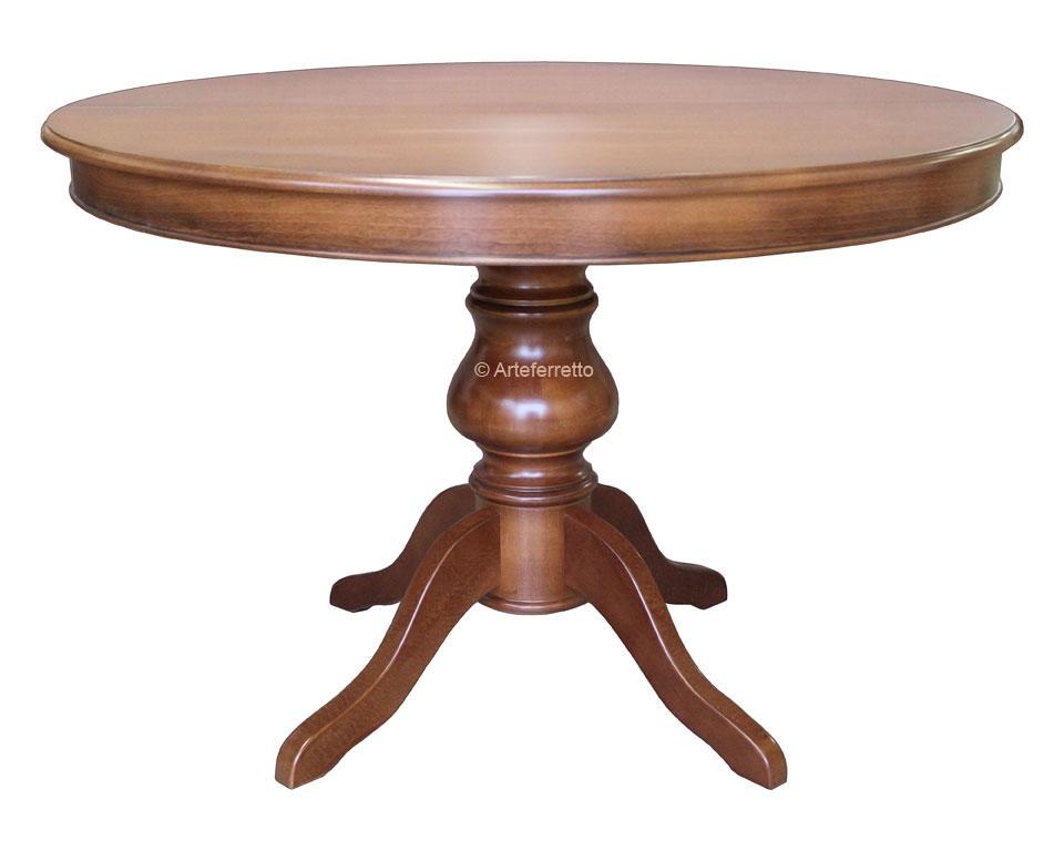 Table salle à manger ronde à rallonge - diamètre 120 cm