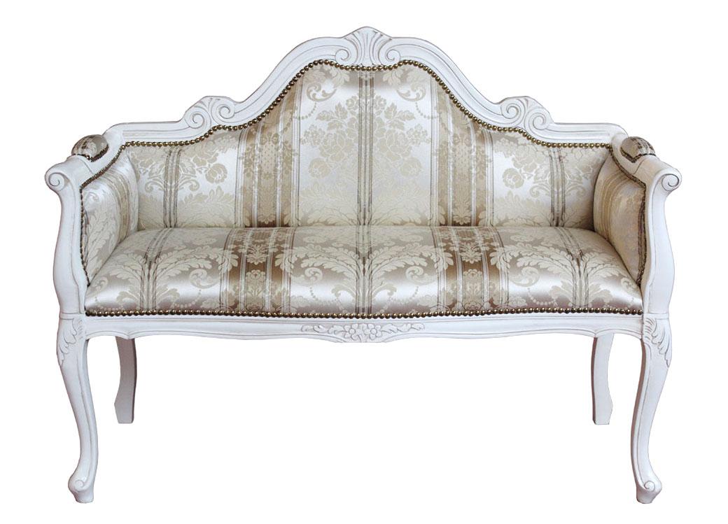 kleines Sofa klassisch 2 Plätze white star