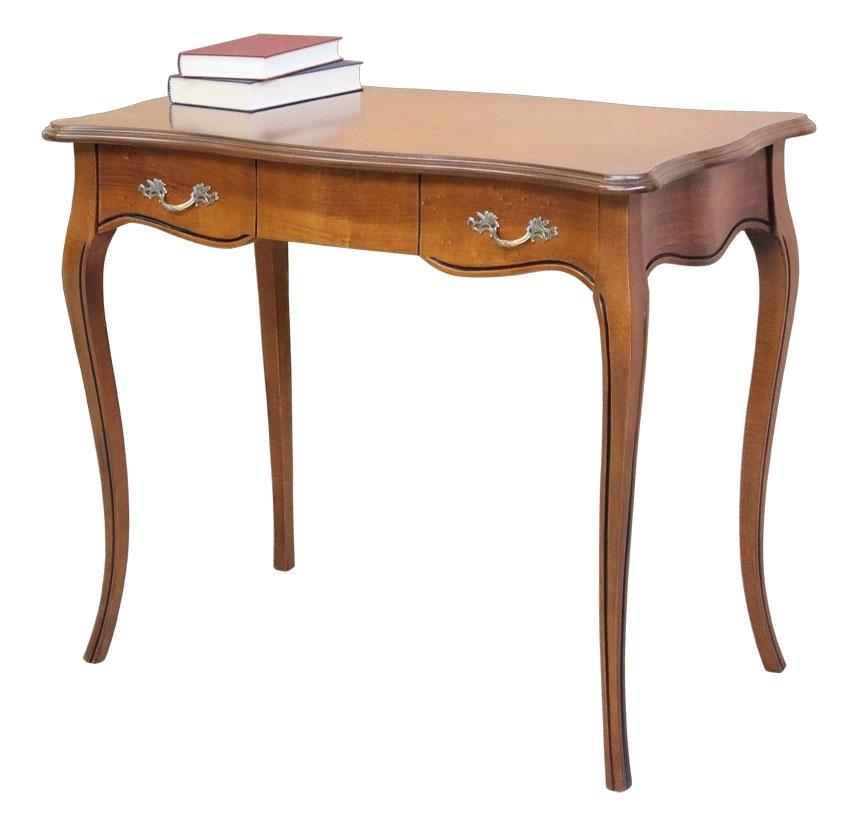 Bureau classique modelé 1 tiroir