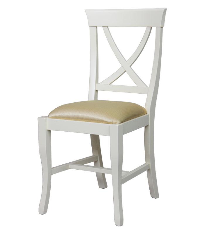 Stuhl weiß mit Polsterung
