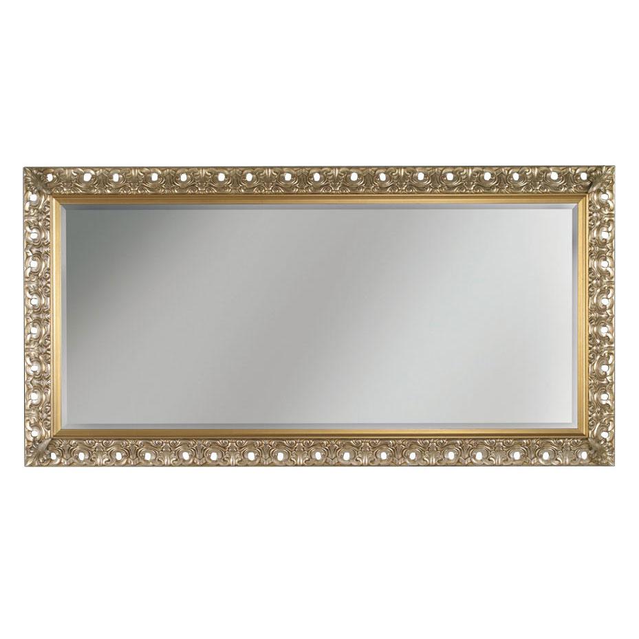 Miroir rectangulaire en bois à la feuille